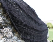 Black Lace Giant Triangle Wrap shawl - MollysPurl