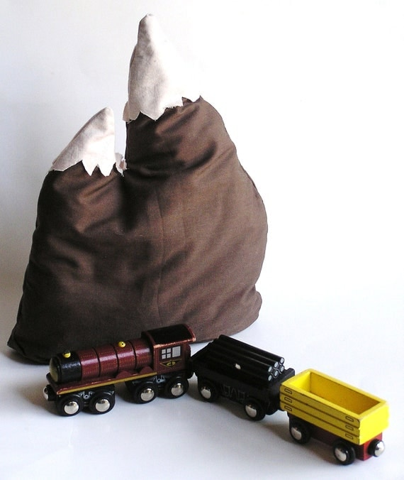 Waldorf-Eco- Friendly Toy-A MOUNTAIN of a Imagination Pillow- Pretend Play Toy