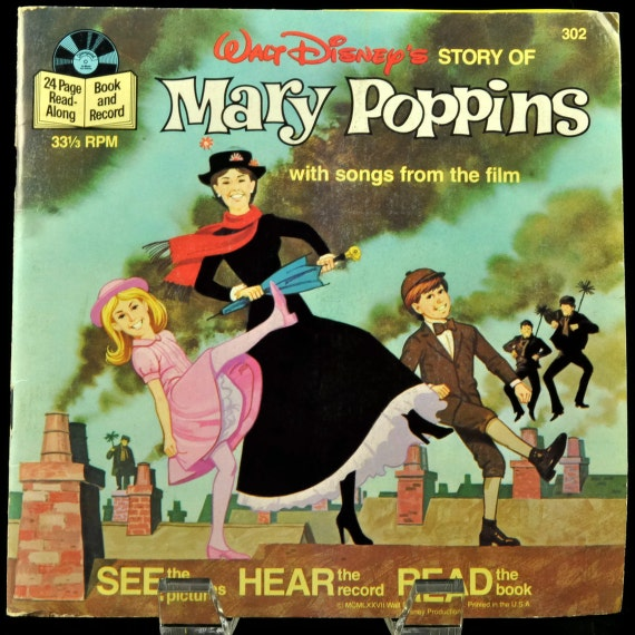 Book And Record Set Disney S Mary Poppins 1977 Vinyl 45