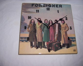 Foreigner Album Cover Clock