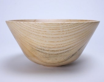 "Spalted Hackberry Wooden Bowl 594 6 7/8"" X  3 3/8"""