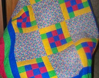 Handmade Baby Crib Patchwork Quilt