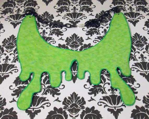 Made to Order - Lime Green OOZE SLIME style collar