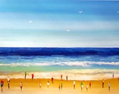 Anglesea Beach - Wonderful Beach -  Original Acrylic  Painting on Canvas - Beach painting - Painting on canvas- Acrylic painting