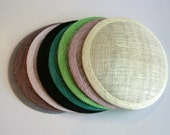 Large Round Sinamay Fascinator Hat Base-  Choose from 26 Colors