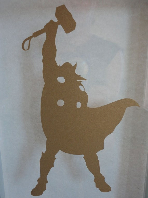 Items similar to Thor Silhouette Marvel Comics Papercut 4 ...