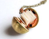 Secret Message Locket. Personalized Ball Locket DIY Kit