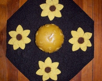 Bring On Spring Wool Felt Candle Mat