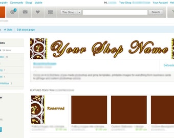Chocolate Etsy banner and avatar