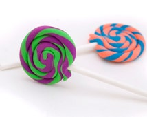 1 ONE Lollipop eraser - fun shape - cute school supplies- made in your choice of colors