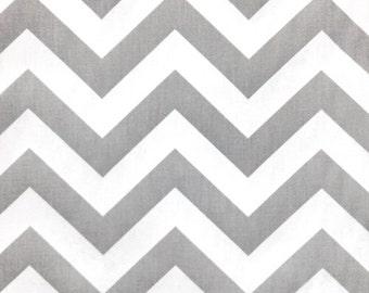"Custom Tablecloth Storm Gray and White Chevron 54"" x 84"""