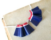 SALE Nautical collar bib necklace Tennis polymer clay necklace minimalistic navy blue-red-white necklace frills ruffle necklace ooak