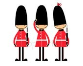 British Guards Kids Room Art Print England English wall decor more colors available 8x10 - ZeppiPrints