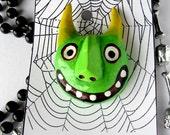 Big Green Goblin - wearable art pin
