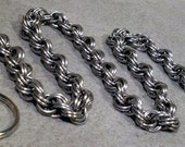 Stainless Steel Double Spiral Chainmaille Wallet Chain