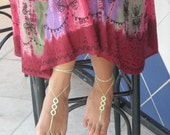 Barefoot Sandals, light green, Yellow Green Color, wedding, Bikini, Women, Beach,  Bridal Sandals, Bridal Jewelry, shoes, READY TO SHIP