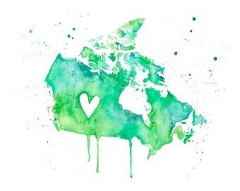 5x7 or 8.5x11 - Canada Love