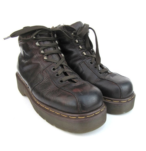 items similar to doc martens brown leather ankle boots. Black Bedroom Furniture Sets. Home Design Ideas