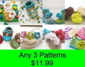 Crochet Baby Booties Patterns, Crochet Patterns Baby Booties, Crochet Booties Patterns, Any 3 for 11.99