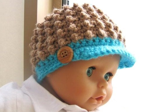 Easy Crochet Baby Boy Hat Patterns : Crochet Pattern Hat Newborn Baby to Adult Boy and Girl