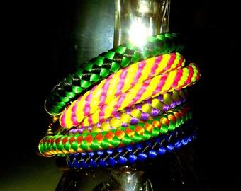 Set of 6 bungee bracelets