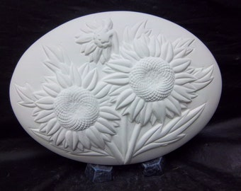Sunflower insert for welcome sign u paint bisque ceramic