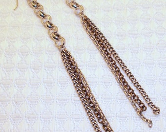 Long Silver Chain Earrings Free Shipping