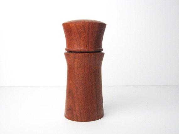 Danish Modern Teak Pepper Mill and Salt Shaker Combination I - Dansk / Nissen Style