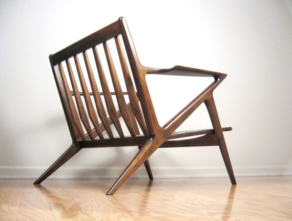 Danish Modern Lounge Chair Poul Jensen for SELIG - Z Mid-Century Modern Armchair - Like New, Refinished, New Fagas Straps