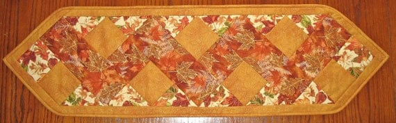 Autumn Table Runner Pieced and Quilted