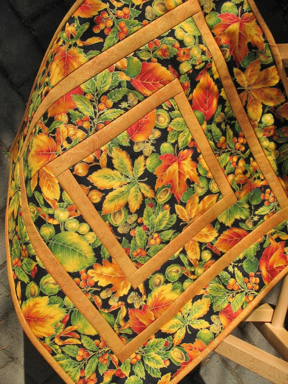 Fall Leaves Table Topper Quilted