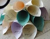 Personalized Wedding Petal Favor Cones