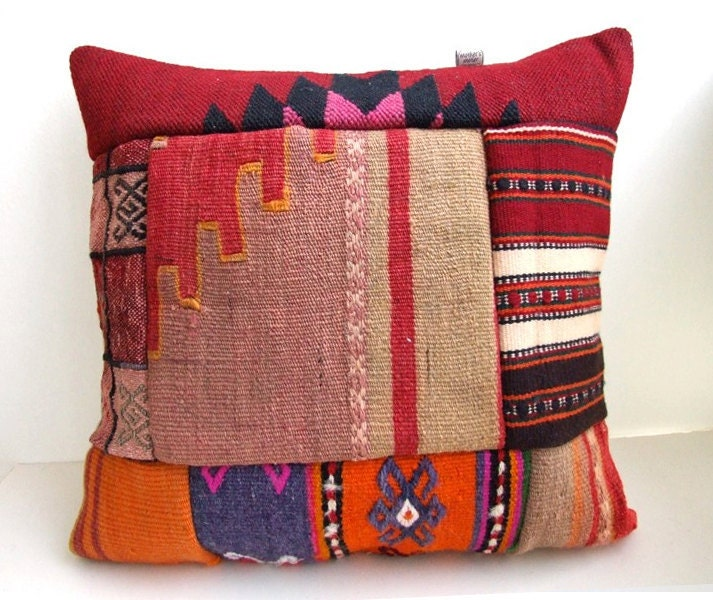 Anatolian Rug Pillow Cover Kilim By Mothersatelier On Etsy