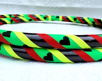 One Love Custom Hula Hoop - Collapsible or Standard - ANY Size