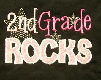 Trendy 2nd Grade Rocks School Shirt Second Grade Rocks Teacher Shirt Student Shirt