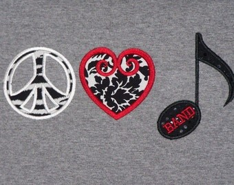 Peace Love and Band shirt