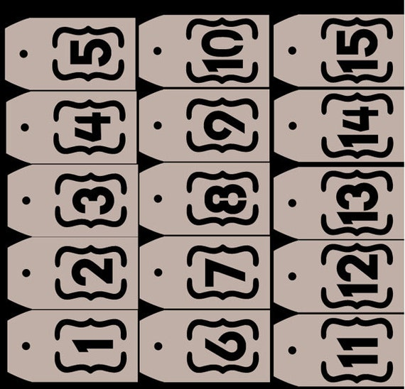 Custom for Jess Table Number Tags, Set of 15 TeamScrapbookNinjas