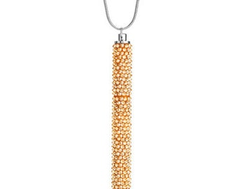 Petite Crystallized Necklace Pen Fully Embellished With Golden Shadow Swarovski Crystals