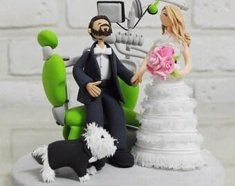 Dentist Doctor custom wedding cake topper Decoration Gift