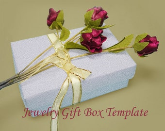 Template - Printable Rectangular Jewelry Gift Box