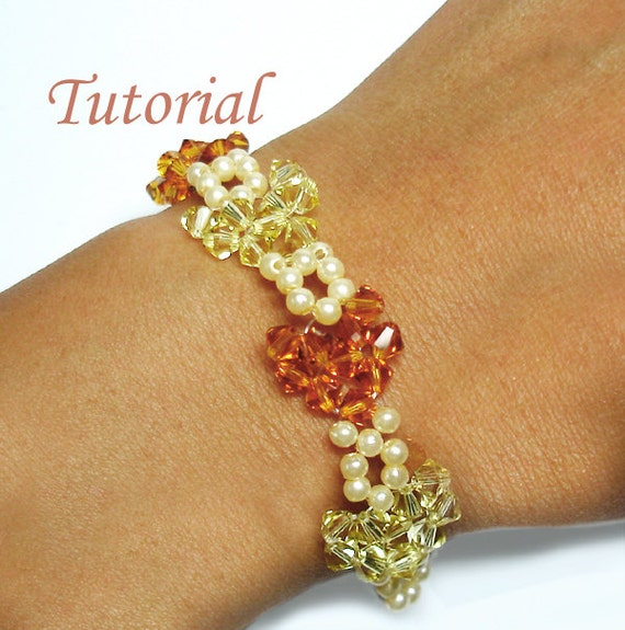 Beading Tutorial - Beaded Crystal Heart to Heart Bracelet Pattern
