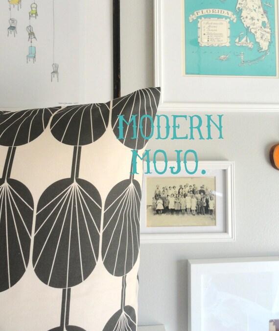 Designer Decorative Pillow Cover - Fanpod Dark Grey - Lumbar - Throw Pillow Cover