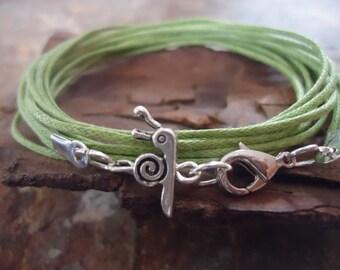 LITTLE GREEN SNAIL Wrap Bracelet (178)