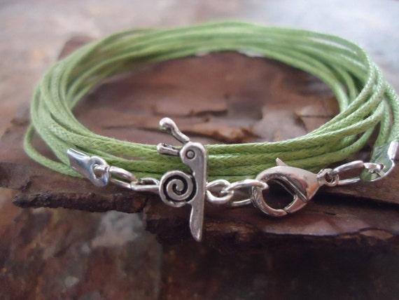 LITTLE GREEN SNAIL Wrap Bracelet