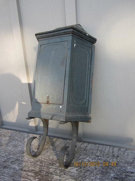Antique Iron Mailbox in the Tudor Style