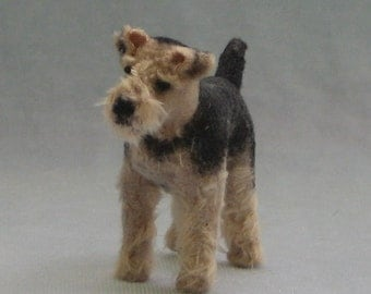 Welsh Terrier Miniature Soft Sculpture Dog by Marie W. Evans