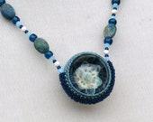 Flower Vortex Marble Necklace