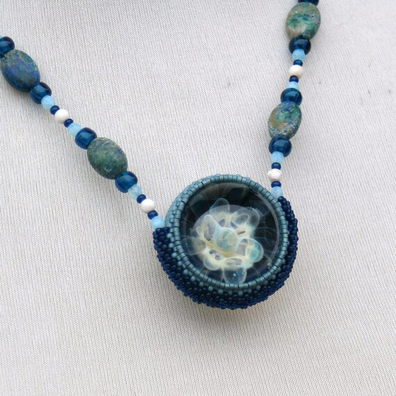 Flower Vortex Marble Necklace
