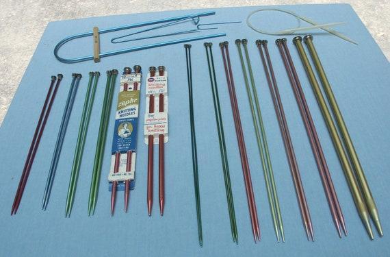 Lot of Knitting Needles and  Aids - Vintage - Aluminum