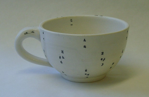 Typewriter Key Porcelain Mug